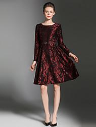 cheap -Maxlindy Women's Vintage / Sophisticated A Line Dress - Patchwork Lace Mini