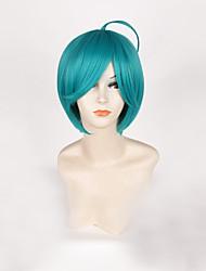 cheap -Cosplay Cosplay Cosplay Wigs Men's Women's 14 inch Heat Resistant Fiber Blue Anime