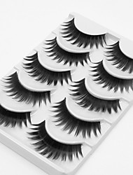 cheap -Eyelash Extensions False Eyelashes 10 pcs Volumized Curly Extra Long Fiber Daily Full Strip Lashes Thick Lengthens the End of the Eye - Makeup Daily Makeup Cosmetic Grooming Supplies