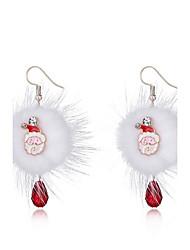 cheap -Women's Drop Earrings Simple Hip-Hop Earrings Jewelry White For Christmas