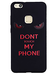 cheap -Case For Huawei P9 Lite / Huawei / Huawei P8 Lite P10 Lite / P10 / Huawei P9 Lite Pattern Back Cover Word / Phrase Soft Silicone