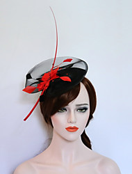 cheap -Flannelette / Feather Fascinators / Hats with 1 Wedding / Party / Evening Headpiece