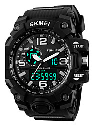 cheap -SKMEI Men's Women's Sport Watch Military Watch Smartwatch Digital Charm Water Resistant / Waterproof Analog - Digital Black Red Blue / Silicone / Alarm / Calendar / date / day / Chronograph / LCD