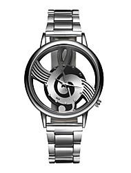 Недорогие -Муж. Жен. Наручные часы Кварцевый Нержавеющая сталь Серебристый металл Повседневные часы Аналоговый Кулоны Мода - Серебряный