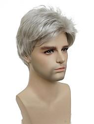 Недорогие -Парики из искусственных волос Kardashian Стиль Без шапочки-основы Парик Белый Серебряный Искусственные волосы Муж. Белый Парик Короткие StrongBeauty
