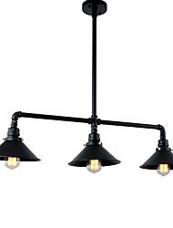 Недорогие -винтажные промышленные подвесные светильники с металлическим оттенком с отделкой из 3-х головок