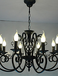 cheap -8-Light 70 cm Candle Style Chandelier Metal Modern Contemporary 110-120V / 220-240V