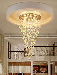 cheap -8-Light 60 cm Crystal Bulb Included Designers Chandelier Metal Electroplated Chic & Modern 110-120V 220-240V