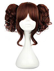 cheap -Cosplay Wigs Women's 14 inch Heat Resistant Fiber Black Brown Anime / Classic Lolita Dress