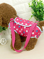 cheap -Cat Dog Shoulder Messenger Bag Pet Carrier Portable Polka Dot Blue Pink