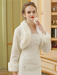 cheap -Shrugs Faux Fur Wedding / Party / Evening Women's Wrap With Fur