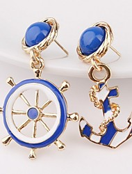 cheap -Women's Mismatch Earrings Anchor Earrings Jewelry Gold For Gift Going out