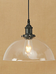 cheap -1-Light 30 cm Mini Style / Bulb Included / Eye Protection Pendant Light Metal Glass Retro 110-120V / 220-240V