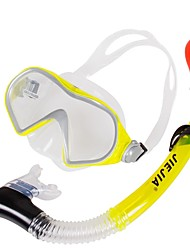 cheap -Snorkeling Set Waterproof Two-Window - Diving PET - For Adults Yellow / Anti Fog / Dry Top