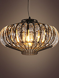 Недорогие -современные кристалл тыквы скрытого монтажа подвесные светильники окрашены отделки металлический кристалл 110-120 В / 220-240 В теплый белый