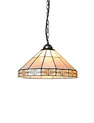 cheap -1-Light Diameter 35cm Tiffany Pendant Lights Glass Lamp Shade Living Room Bedroom Dining Room Kids Room Light Fixture