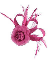 cheap -Flax Flowers / Hair Clip with 1 Wedding / Special Occasion / Party / Evening Headpiece