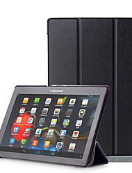 cheap -Case For Lenovo Lenovo Tab 3 10 Plus Full Body Cases / Tablet Cases Hard PU Leather