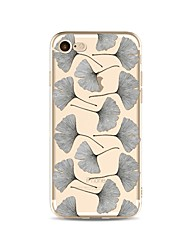 cheap -Case For Apple iPhone X / iPhone 8 Plus / iPhone 8 Transparent / Pattern Back Cover Tree Soft TPU