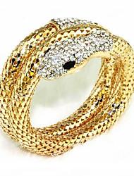 cheap -Women's Wrap Bracelet Snake Ladies Rhinestone Bracelet Jewelry Gold / Silver For Party Stage