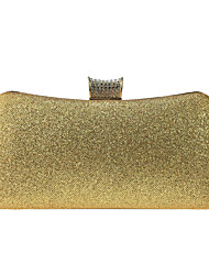 cheap -Women's Bags leatherette Evening Bag Buttons Crystals Sequin Wedding Party Event / Party Black Gold Silver
