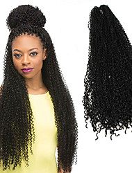 cheap -Afro Crochet Curly Weave Afro Kinky Braids Hair Accessory Human Hair Extensions 100% kanekalon hair Kanekalon Braids Braiding Hair 85 Roots/pack