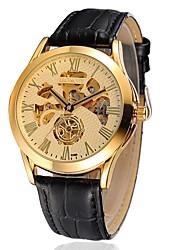 cheap -Men's Casual Watch / Fashion Watch Automatic self-winding Leather Band
