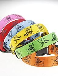 cheap -Cat Dog Collar Adjustable LED Lights Strobe / Flashing Cartoon Nylon Yellow Green Blue