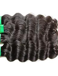 Недорогие -Индийские волосы Естественные кудри человеческие волосы Remy 400 g Человека ткет Волосы Ткет человеческих волос Расширения человеческих волос
