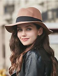 Недорогие -Жен. Головные уборы Широкополая шляпа - Чистый цвет Хлопок, Однотонный
