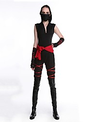 cheap -Ninja Cosplay Costume Masquerade Women's Halloween Carnival New Year Festival / Holiday Poly / Cotton Black Women's Carnival Costumes / Top