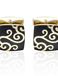 cheap -Cufflinks Costume Jewelry Brooch Jewelry Golden For Wedding Anniversary