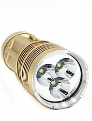 Недорогие -ANOWL 6225 Светодиодные фонари 1800 lm Светодиодная лампа LED 3 излучатели 5 Режим освещения Портативные Простота транспортировки / Алюминиевый сплав