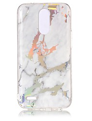 cheap -Case For LG LG K10 (2017) / LG K8 (2017) / LG G6 Plating / IMD Back Cover Marble Soft TPU