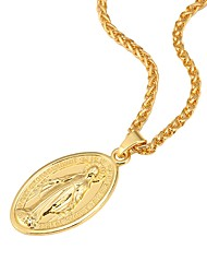 cheap -Women's Pendant Necklace Cross Ladies Vintage Hip-Hop 18K Gold Plated Copper Metal Gold Silver Rose Gold Necklace Jewelry For Party Daily