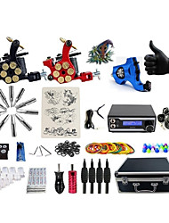 cheap -BaseKey Professional Tattoo Kit Tattoo Machine - 3 pcs Tattoo Machines, Professional Alloy 20 W LED power supply 1 rotary machine liner & shader / 2 alloy machine liner & shader / Case Included