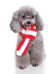 Недорогие -Собака Рождество Шарф для собаки Зима Одежда для собак Зеленый Красный Розовый Костюм Плюшевая ткань Мультипликация S M L