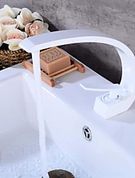 cheap -Centerset Ceramic Valve Single Handle One Hole Bathroom Sink Faucet Bath Taps