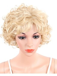 cheap -Synthetic Wig Curly Curly Bob Pixie Cut Wig Blonde Short Long Blonde Synthetic Hair Women's Highlighted / Balayage Hair Side Part Blonde