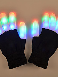 cheap -LED Glow Gloves Party Supplies Glowing Rave Flashing Glove Glow Light Up Finger Tip Lighting Christmas Gift Kid Party Decor