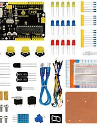 abordables -Kit de panneaux de commande keyestudio uno r3 pour démarreur arduino avec dupont wireledresistorpdf