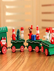 cheap -Christmas Gifts Christmas Toys Train Toys Train Holiday Kids Classic Snowman Wood 1pcs Pieces