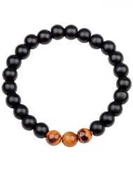 cheap -Women's Unisex Obsidian Bead Bracelet Chakra Colorful Agate Bracelet Jewelry Black / Brown / Green For Gift Going out