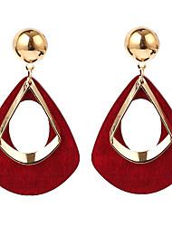 cheap -Women's Drop Earrings Jacket Earrings fan earrings Ladies Oversized Resin Earrings Jewelry Black / Wine / Dark Green For Party Gift