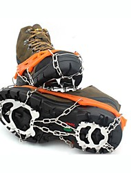cheap -Traction Cleats Crampons Outdoor Non-Slip Stainless Steel Metal Alloy Rubber Climbing Outdoor Exercise Black Orange