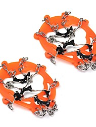 cheap -Traction Cleats Crampons Non-Slip Wear-Resistant Rubber silicon Stainless Steel Rope Snowsports Orange