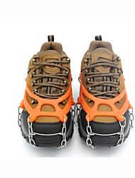 cheap -Traction Cleats Crampons Outdoor Portable Non-Slip Stainless Steel Metal Alloy Rubber Climbing Outdoor Exercise Black Orange
