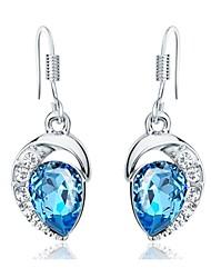 cheap -Women's Cubic Zirconia tiny diamond Stud Earrings Drop Earrings Geometrical Aquarius Ladies Zircon Earrings Jewelry Light Blue For Daily