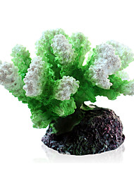 cheap -Fish Tank Aquarium Decoration Fish Bowl Coral Jellyfish Artificial Plants Orange Resin 10*9*7 cm