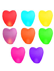 cheap -10Pcs Heart-Shaped Kongmin Light Lamp Sky Lantern